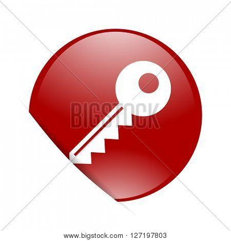 key red circle glossy web icon