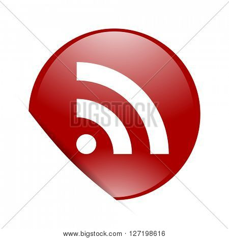 rss red circle glossy web icon