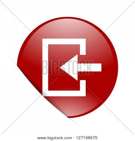 enter red circle glossy web icon