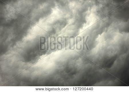 Gray Sky During Thunderstorm