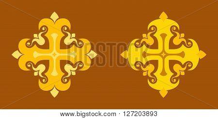 Stylized christian cross. Illustration isolated on background