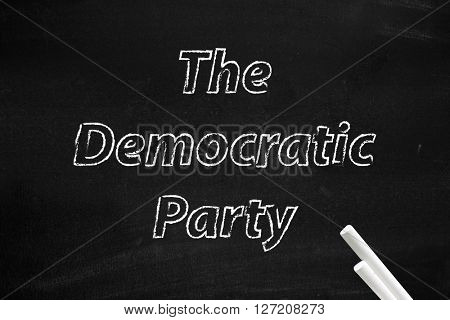 The Democratic Party written on board