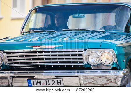 ALTENTREPTOW - GERMANY - MAY 2015: american chevrolet car on an oldtimer show in altentreptow germany at may 2015.