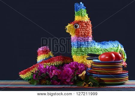 Cinco De Mayo Party Table.