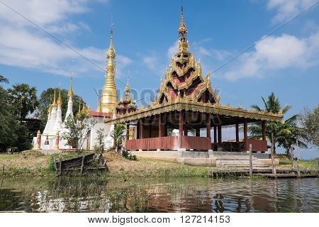 Padogas of Buddhist -Inle lake Shan state of Myanmar.