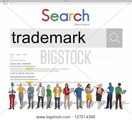 Trademark Branding Copyright Product Identity Marketing Concept