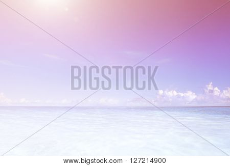Paradise Sea Beach Sunshine Calm Concept