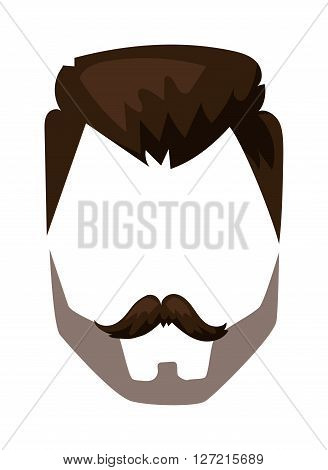Super Hairstyles Beard And Hair Face Cut Mask Flat Cartoon Collection Hairstyles For Men Maxibearus