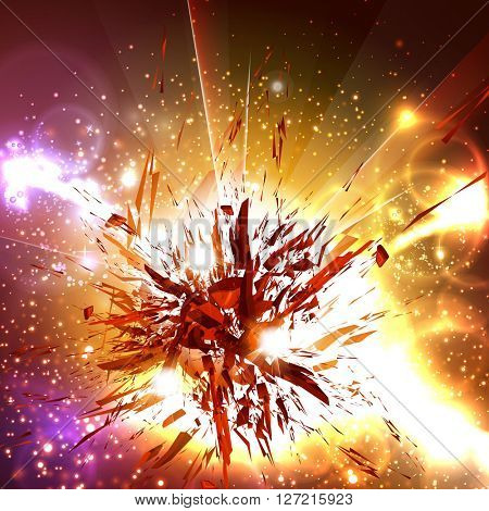 Abstract explode universe, effect, flash strike, easy all editable