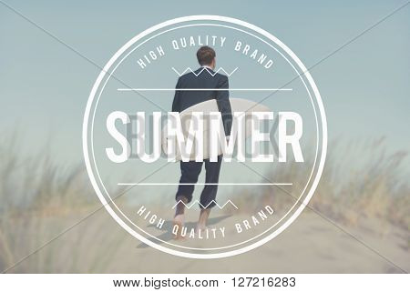Summer Beach Holiday Vacation Relaxation Travel Concept
