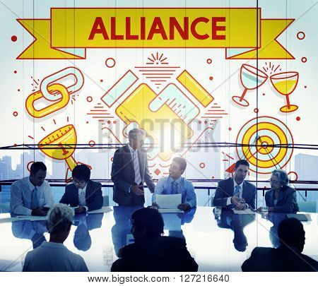 Alliance Team Together Collaboration Partnership Concept