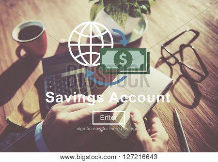 Savings Account Profit Money Concept