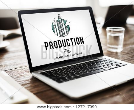 Production Product Produced Branding Result Concept