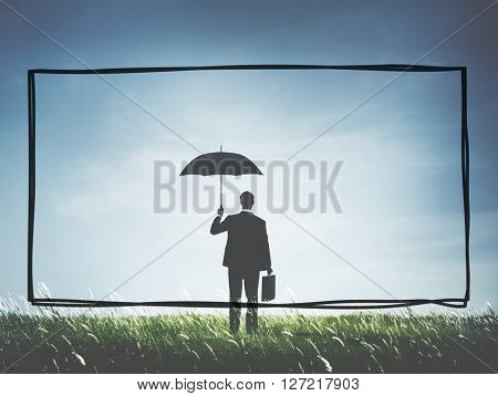 Businessman Business Protection Security Concept