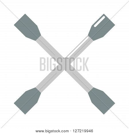 Wench car tool vector. Car wench tool illustration. Wench tool isolated on white. Wench tool icon. Wench tool flat style. Wench tool silhouette. Wench car tools construction