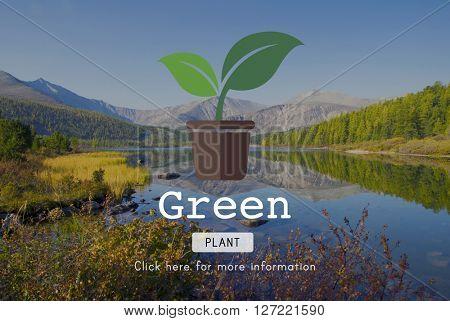 Go Green Gardning Conservation Environmental Concept