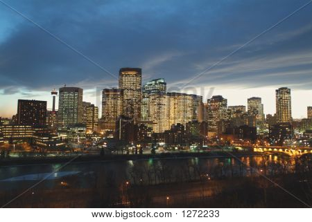 Calgary Downtown Evening