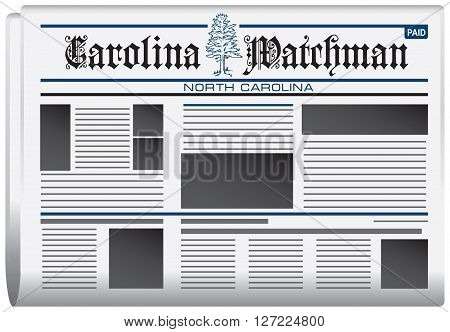 Abstract newspaper in state of North Carolina Carolina watchman newspaper