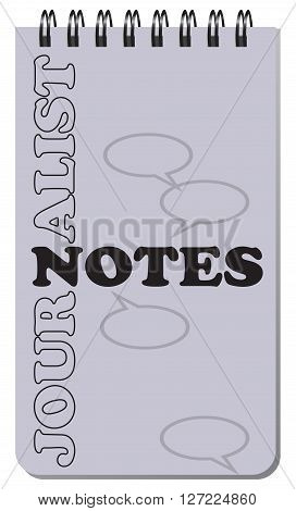 Journalist notes for notes on a spring. Vector illustration.