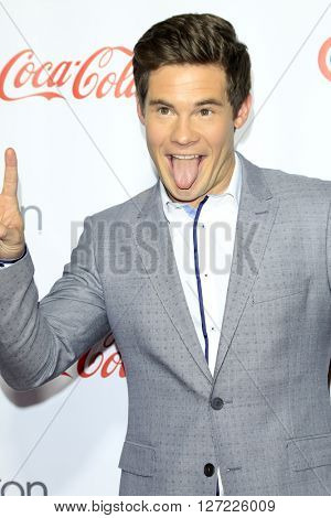 LAS VEGAS - APR 14:  Adam Devine at the CinemaCon Awards Gala at the Caesars Palace on April 14, 2016 in Las Vegas, CA
