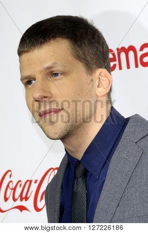 LAS VEGAS - APR 14:  Jesse Eisenberg at the CinemaCon Awards Gala at the Caesars Palace on April 14, 2016 in Las Vegas, CA