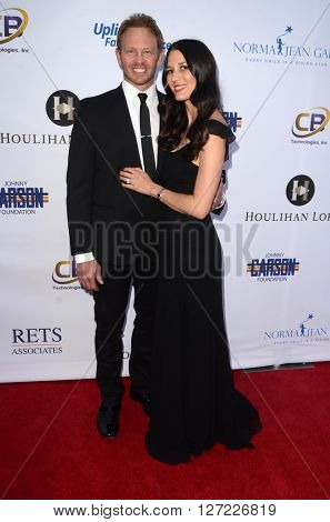 LAS VEGAS - APR 20:  Ian Ziering, Erin Kristine Ludwig at the Norma Jean Gala benefitting Hollygrove at the Taglyan Complex on April 20, 2016 in Los Angeles, CA