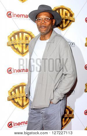 LAS VEGAS - APR 12:  Samuel L Jackson at the Warner Bros. Pictures Presentation at CinemaCon at the Caesars Palace on April 12, 2016 in Las Vegas, CA