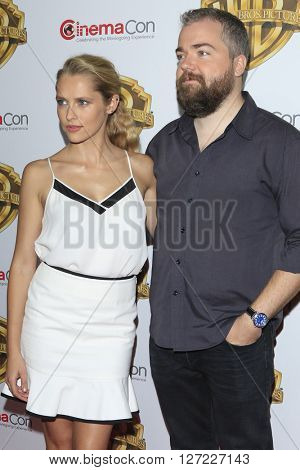 LAS VEGAS - APR 12:  Teresa Palmer, David Sandberg at the Warner Bros. Pictures Presentation at CinemaCon at the Caesars Palace on April 12, 2016 in Las Vegas, CA