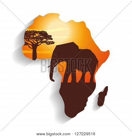 Africa concept with icon design, vector illustration 10 eps graphic.