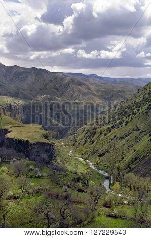 Rocks and River - Garni Gorge in Armenia