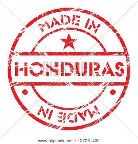Made in Honduras grunge rubber stamp