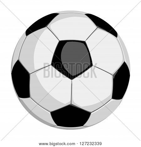 Football or soccer ball in vector format isolated on white backgound. Clipping path included for easy selection.