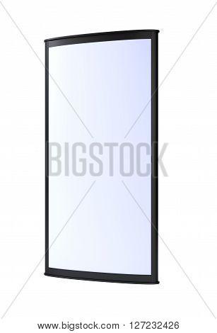 Black vertical blank outdoor lightbox. 3D rendering