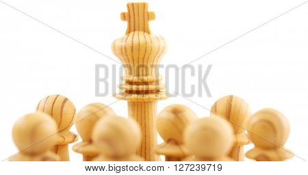 Chess pawns - business leadership  concept