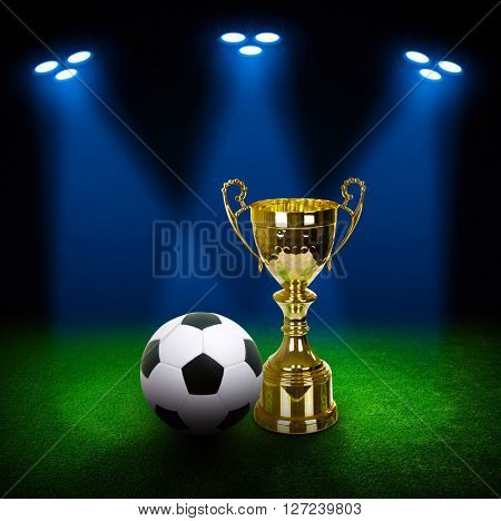 Gold Cup on light background
