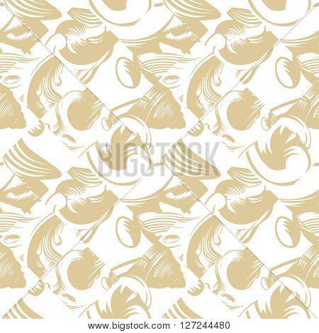 Vector seamless pattern with art ornament. Vintage elements for design in Victorian style. Ornamental vintage background. Ornate floral decor for wallpaper. Endless texture