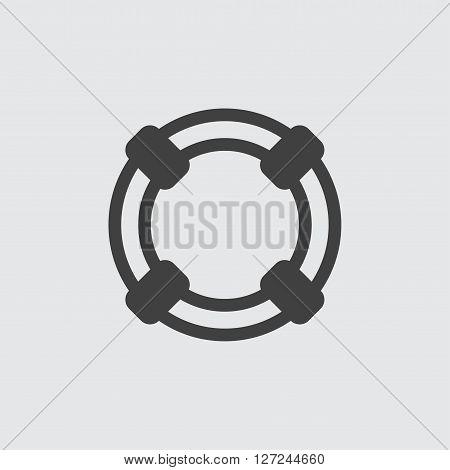 Lifebuoy icon, isolated on white background illustration