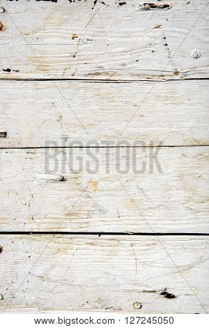 Old wooden board painted white. vertical texture