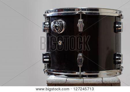 Black Drum tom-tom  isolated on white background
