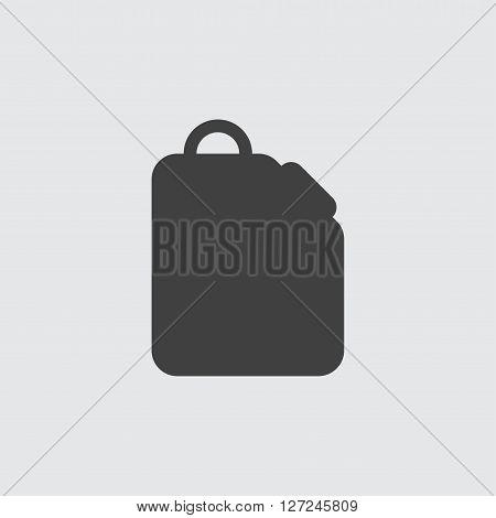Jerrycan icon, isolated on white background illustration
