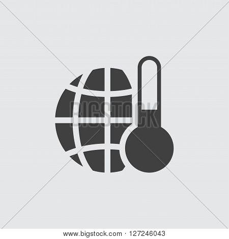 Temperature icon, isolated on white background illustration