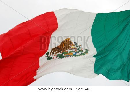 Mexican Flag Flies Over Cozumel