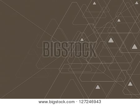Dark abstract tech triangles pattern. Vector background illustration