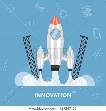 Abstract business concept. Business concept background. Concept for business idea, startup. Business concept of sucsessful. Make a deal. Business management concept. Business concept flat vector illusrtation. Success in business. Business concept template