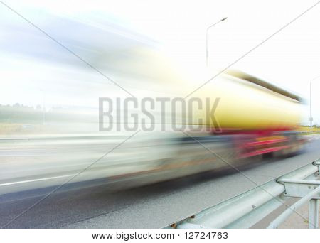 motion blur truck