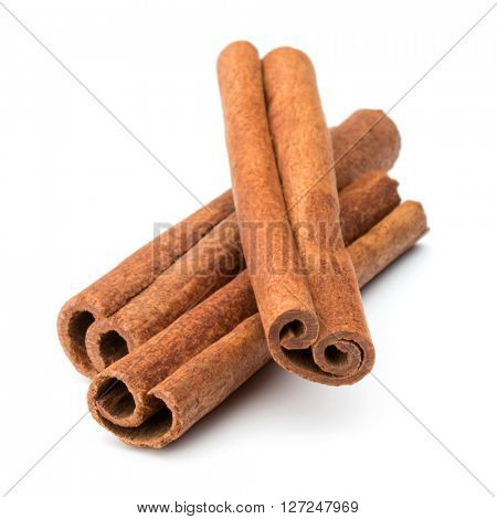 cinnamon stick spice isolated on white background closeup