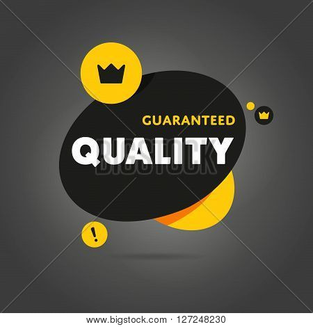 Guaranteed quality flat abstract isolated vector banner