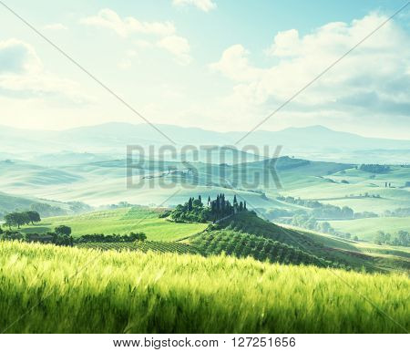 morning in Tuscany, Italy