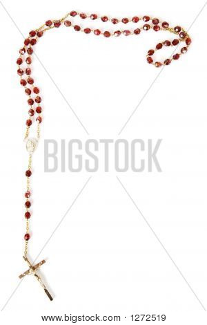 Rosary Beads Isolated On White