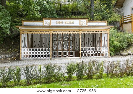 SZCZAWNICA, POLAND - SEPTEMBER 20: The historic water intake called Waleryi Spa on September 20, 2014 in Szczawnica.
